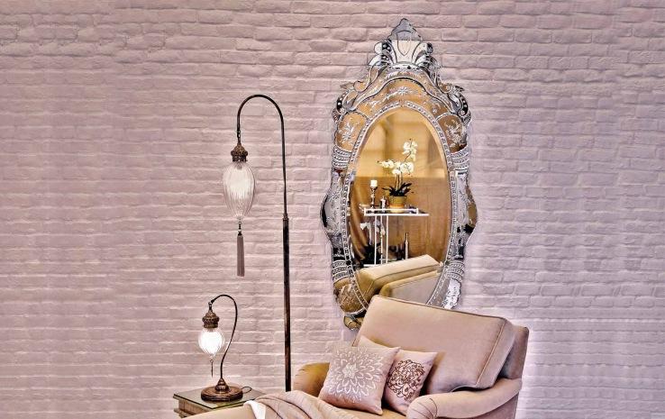 Arch Top Venetian Mirror