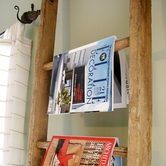 Ladder Magazine Rack Home