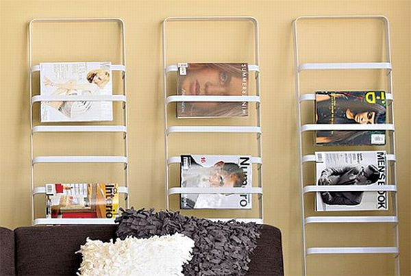 Ladder Magazine Rack