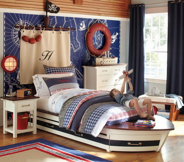 Pottery Barn Sailboat Bed