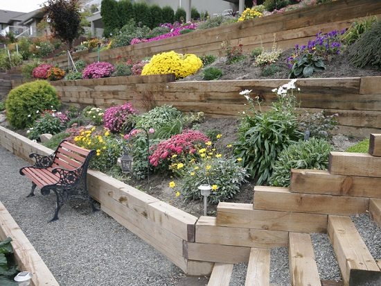 Retaining Wall Landscape Timbers