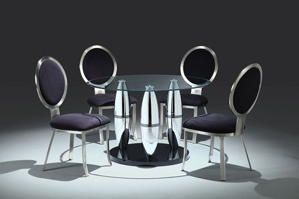 Chrome Glass Dining Table