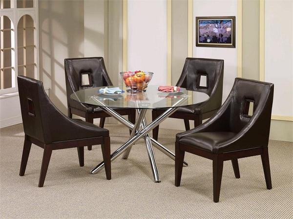 Chrome Glass Round Table