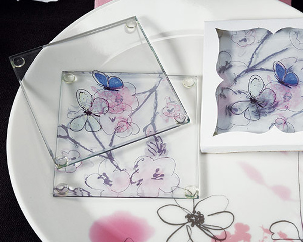 Clear Glass Coasters Dinnerware
