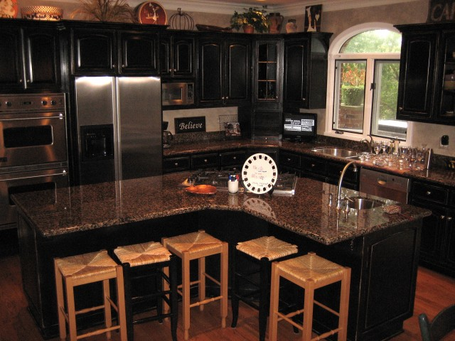 Tips To Create Distressed Black Kitchen Cabinets Home Decor Report