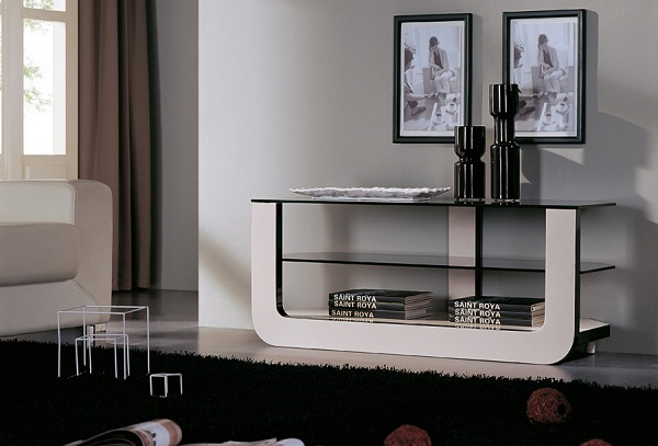 9 ideas to decorate glass modern console home decor report - Moderne consoles ...