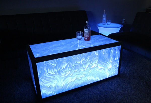 How To Make A Lighted Acrylic Coffee Table