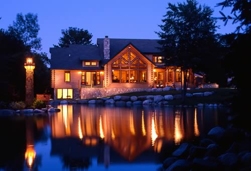 Luxury Log Home Plans