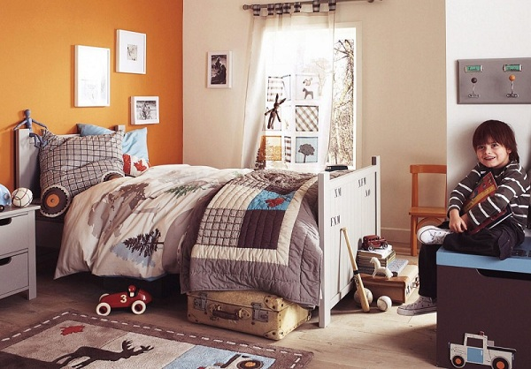 Orange And Brown Bedrooms