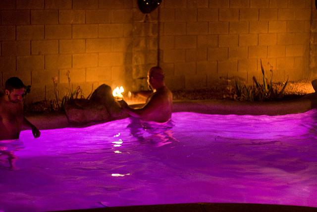 Purple Swimming Pool Water