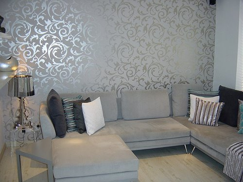 Wall paper on pinterest modern wallpaper grey wallpaper for Wallpaper images for house walls