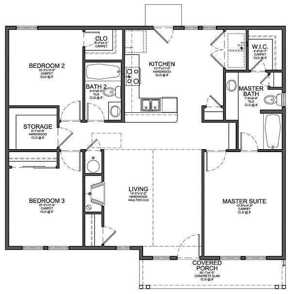 Tips to plan modern floor plans for small house home for Simple home plans to build