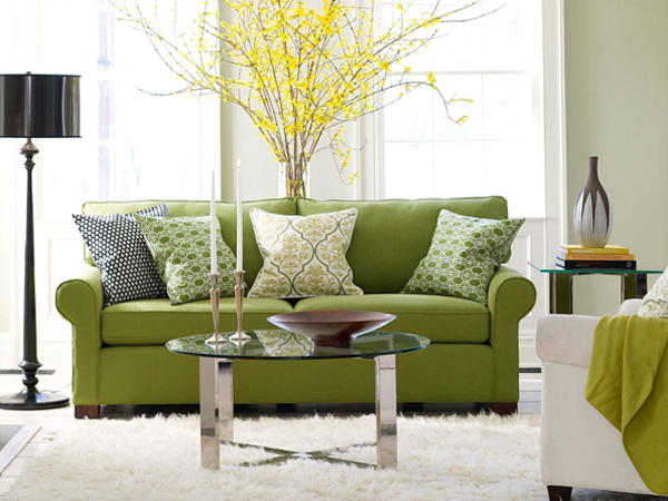 Gray And Green Living Room Home Decor Report