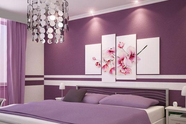 Purple Bedroom Paint