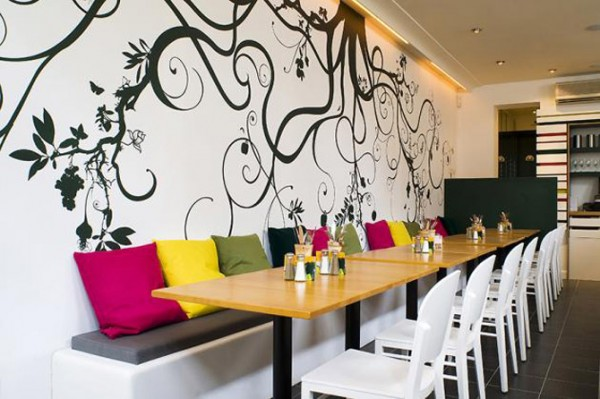 Painting designs for wall restaurant home decorating ideas