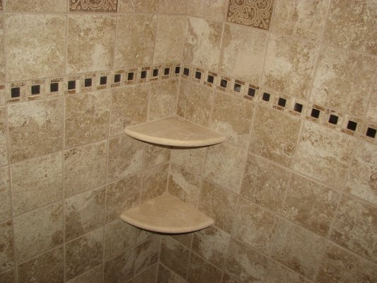 Shower Corner Shelves Tile