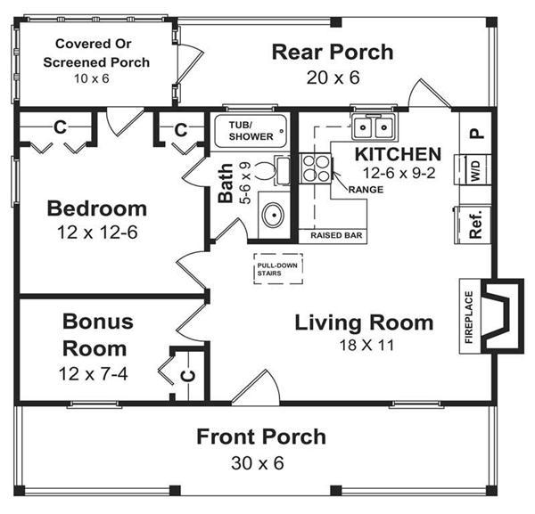 Simple Open Floor House Plans