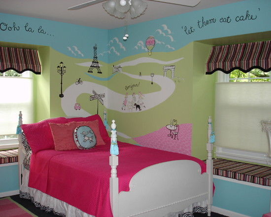 4 City Theme Ideas To Decorate Teenage Girls Bedroom : Home Decor Report