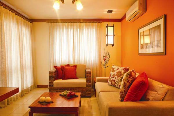 Warm With Orange Home Decorations Home Design Online