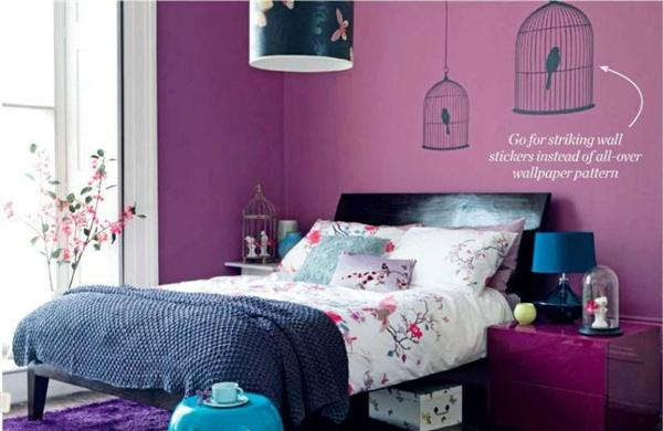 Bedroom Purple Accent Wall