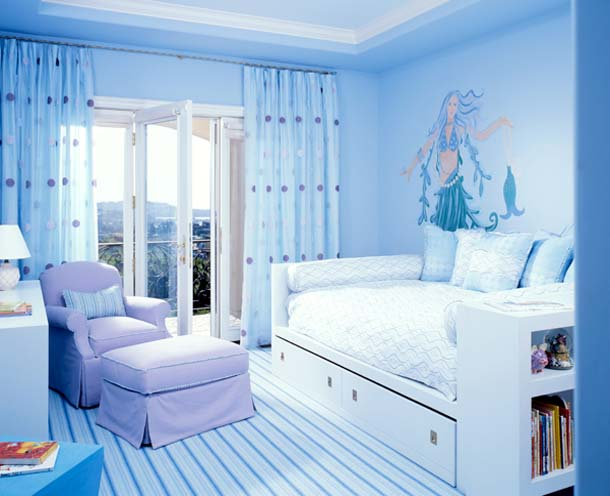 Girls Blue Bedroom Ideas