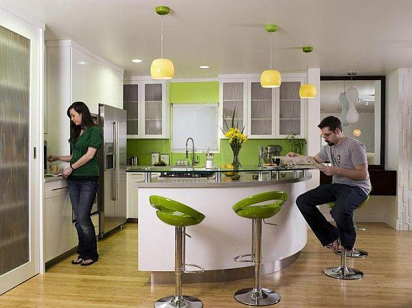 Kitchen Stools Green