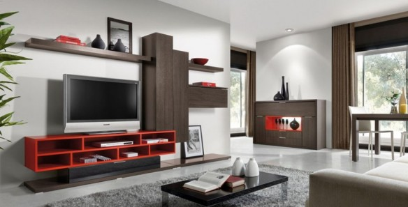 LCD TV Unit Furniture Design