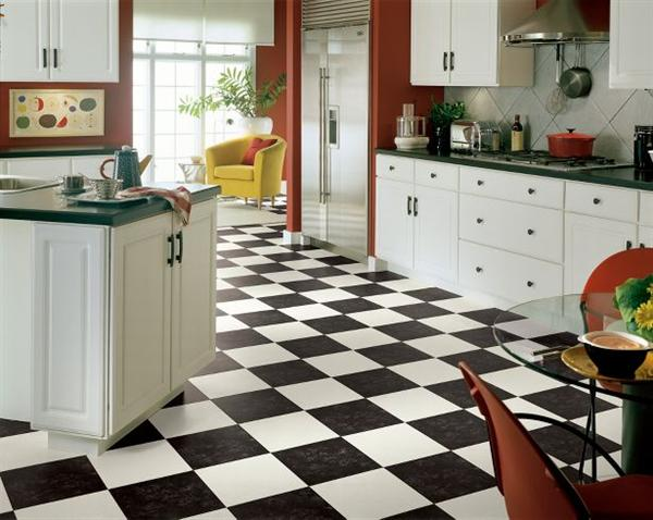 Vinyl Tile Flooring Kitchen