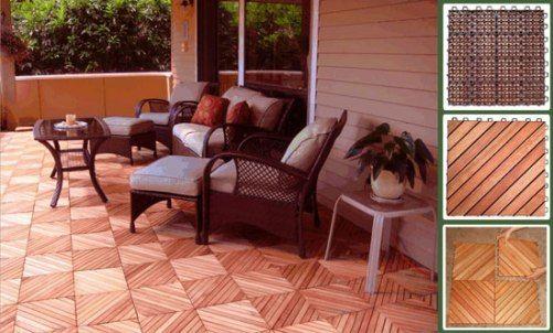 Eucalyptus Wood Flooring Tile