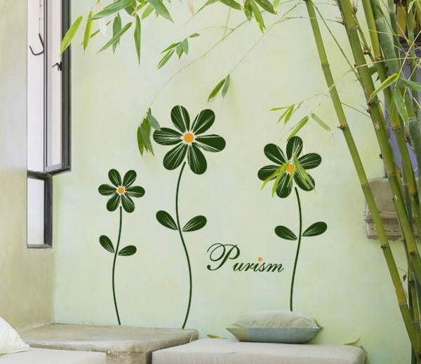 Flower Decals for Girls Room