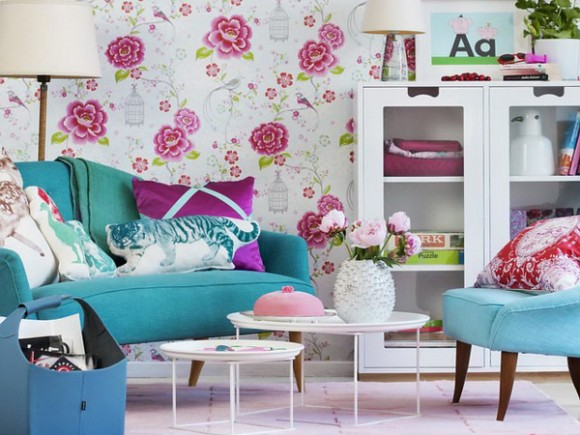 Flower Wallpaper for Girls Room