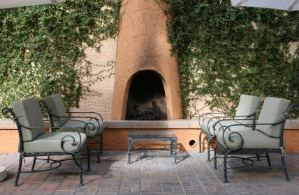 Garden Outdoor Fireplace Pictures