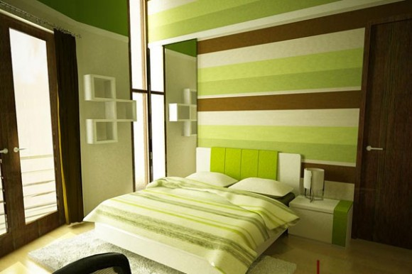 Green Bedroom Paint