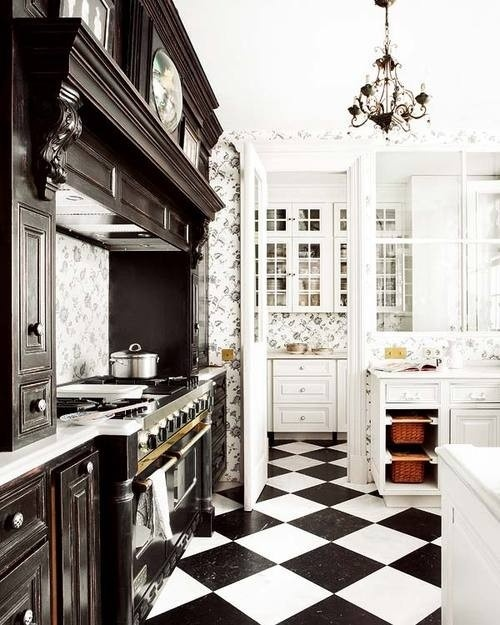 Http Imgarcade Com 1 Black And White Tile Kitchen
