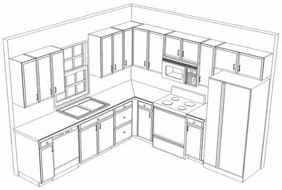 Simple Kitchen Drawing