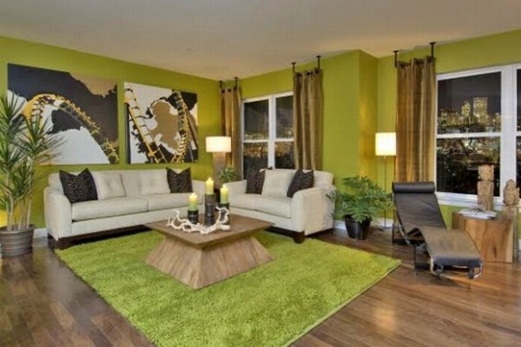 Light Green Rooms Decorating