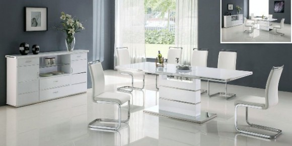 Modern White Dining Room Sets