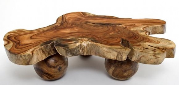 Natural Wood Table Base