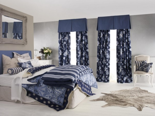 Navy blue bedroom decorating ideas home decor report for Bedroom ideas navy blue
