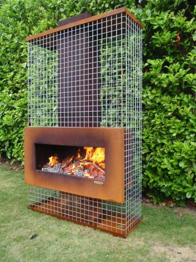 Outdoor Fireplace Pictures Designs
