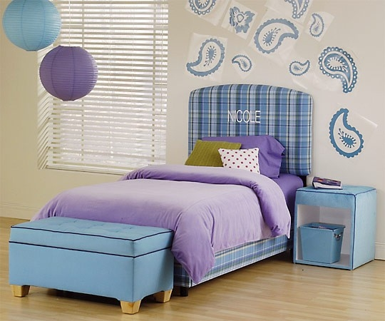 Red orange purple and blue girls bedrooms ideas home for Blue purple bedroom ideas