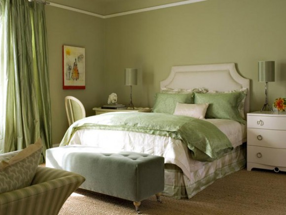 Sage Green Walls Bedroom