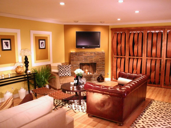 Warm Living Room Designs