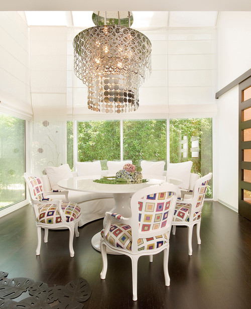 White Dining Chairs with Arms