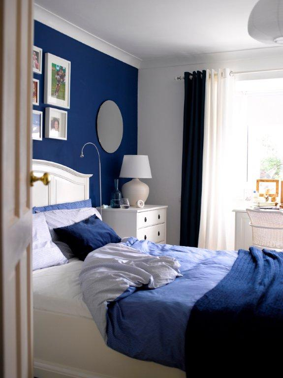 Blue Colored Bedroom