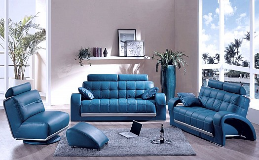Blue Colors for the Living Room