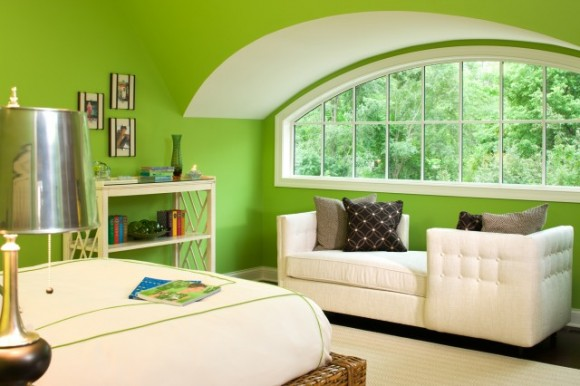Bright Green Bedroom Walls