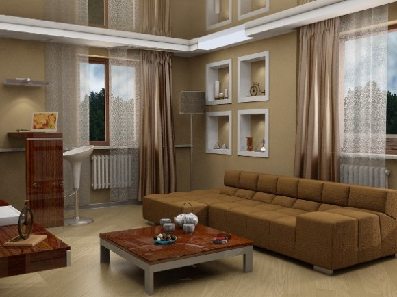Color Ideas for Living Room with Brown Couch