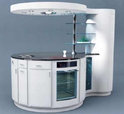 Kitchen for small spaces modular and compact designs for Compact kitchens for small spaces