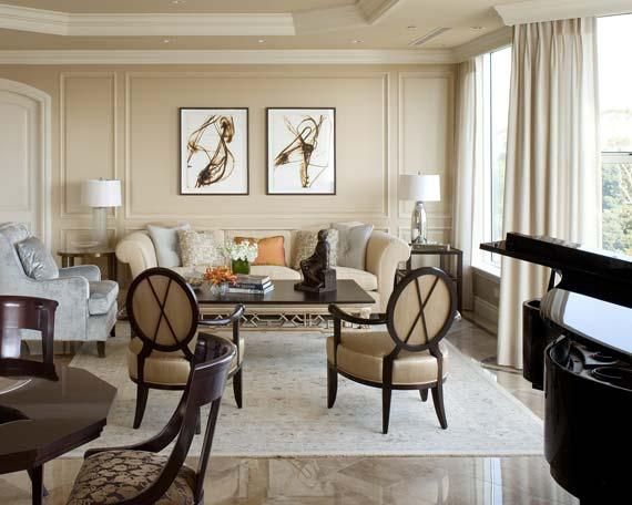 Condominium Living Room Interior Design